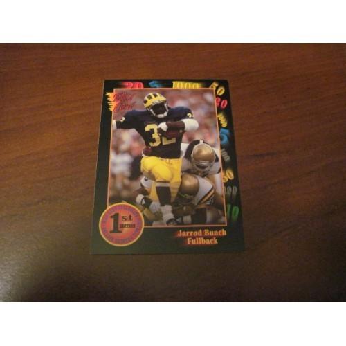 1991 Wildcard Wild Card NFL College Football Draft Card 93 Jarrod Bunch Michigan
