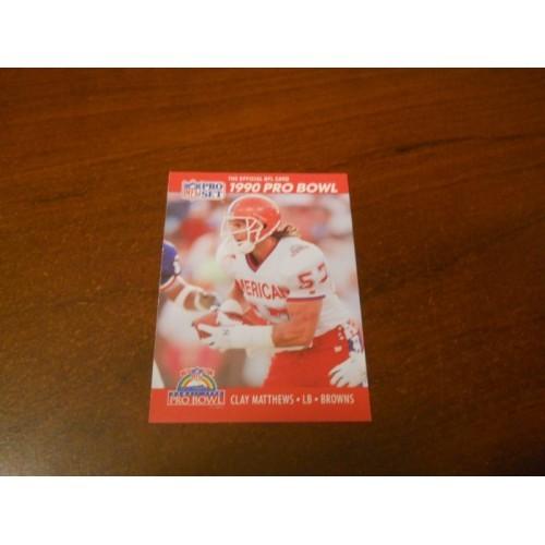 1990 Pro Set Card NFL Football Card Clay Matthews USC Cleveland Browns