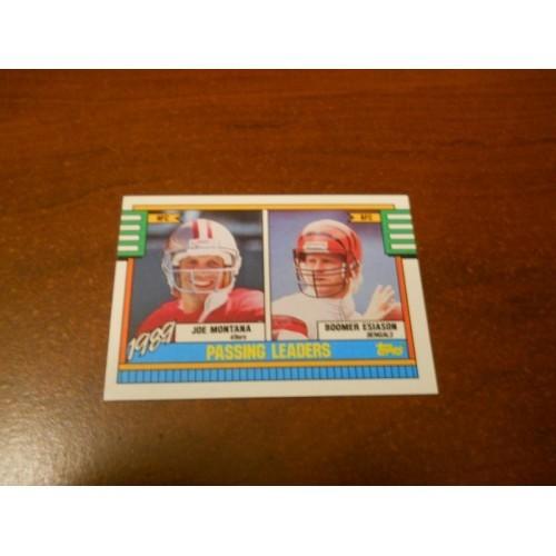 1990 Topps Football Card Joe Montana Notre Dame Boomer Esiason Maryland