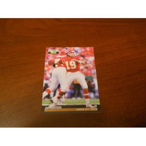 1995 Pro Line Football Card 12 Joe Montana Notre Dame 49ers Chiefs