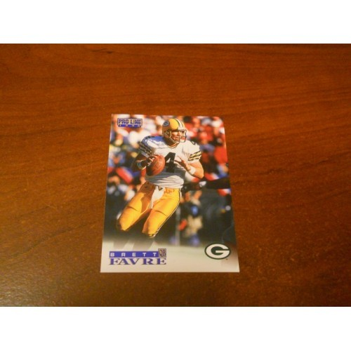 1996 Pro Line Football Card 6 Brett Favre Green Bay Packers Southern Miss
