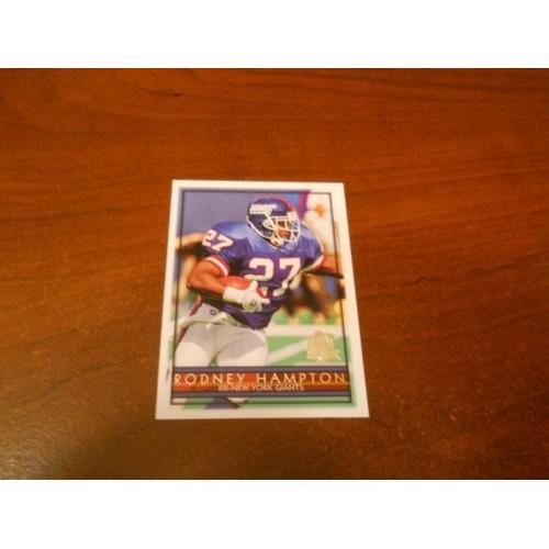 1996 Topps 286 Rodney Hampton Georgia New York Giants