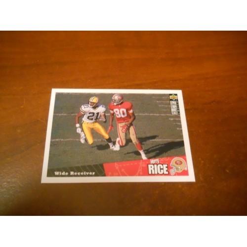 1996 Collectors Choice Football Card 104 Jerry Rice San Francisco 49ers