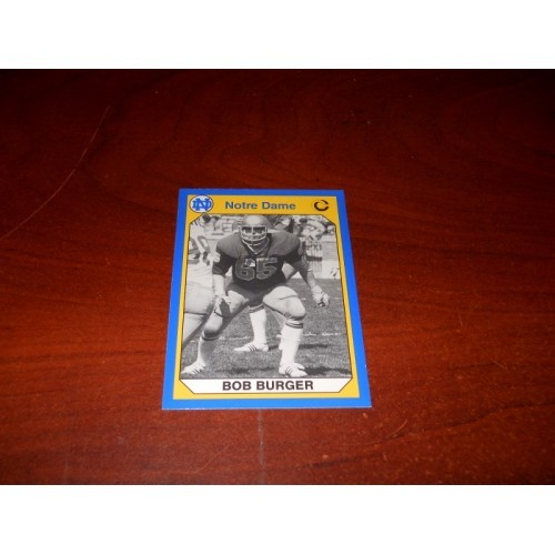 1990 Notre Dame Collegiate Collection Card 90 Bob Burger