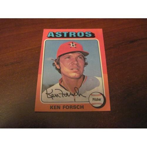 1975 Baseball Card 357 Ken Forsch Houston Astros Hi Grade Beauty