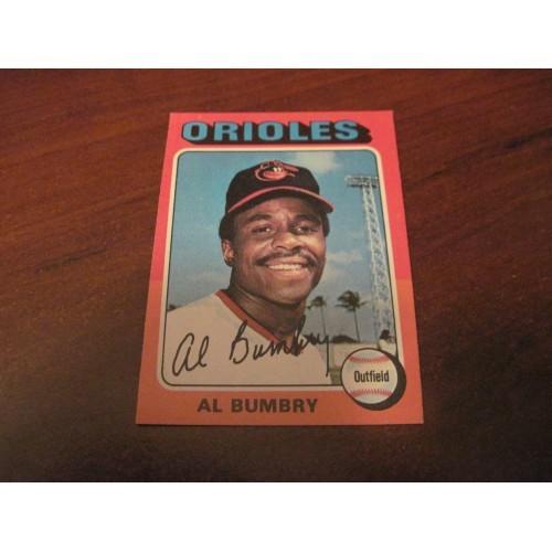 1975 Baseball Card 358 Al Bumbry Baltimore Orioles Hi Grade Beauty