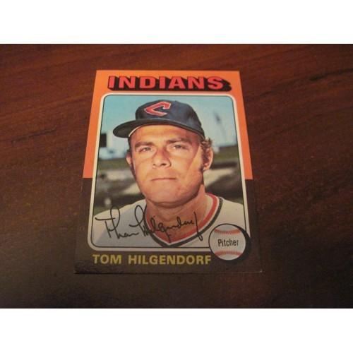 1975 Baseball Card 377 Tom Hilgendorf Cleveland Indians Hi Grade Beauty