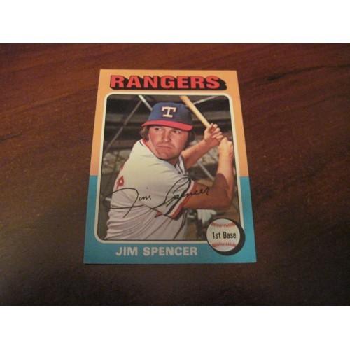 1975 Baseball Card 387 Jim Spencer Texas Rangers Hi Grade Beauty