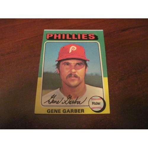 1975 Baseball Card 444 Gene Garber Elizabethtown College Phillies Hi Grade Beaut