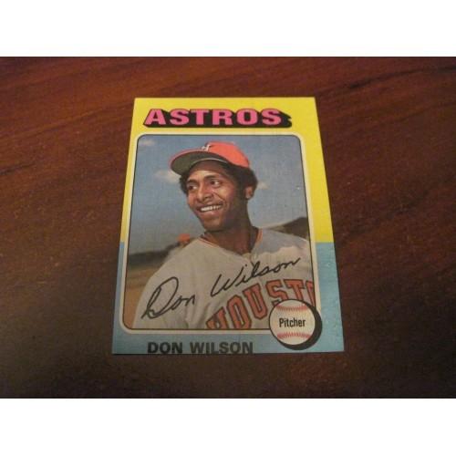 1975 Baseball Card 455 Don Wilson Houston Astros Hi Grade Beauty