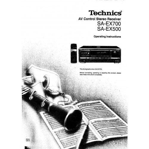Technics SA-EX700-EX500 Receiver Owners Manual