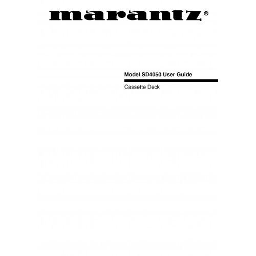 Marantz SD4050 Cassette Deck Owners Manual