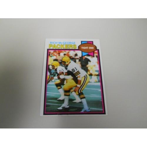 1979 Topps Football 243 Rich McGeorge Elon University Green Bay Packers