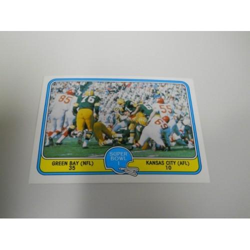 1981 Fleer Action Football Card 57 Green Bay Packers Bart Starr