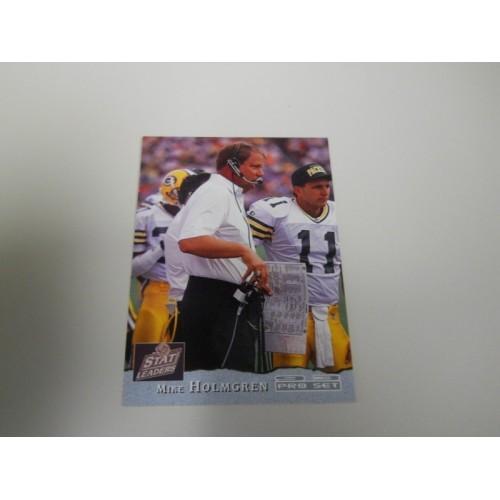 1993 Pro Set Football Card 3 Green Bay Packers Coach Ty Detmer Mike Holmgren USC