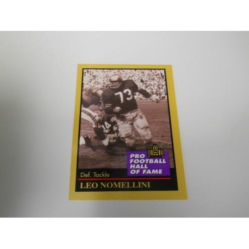 1991 Enor Football Card Insert 109 Leo Nomellini San Francisco 49ers Minnesota