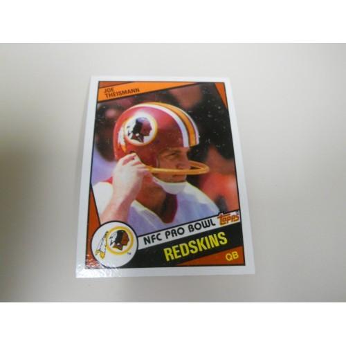 1984 Topps Football 390 Joe Theismann Notre Dame Washington Redskins