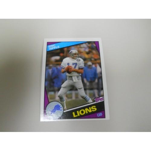 1984 Topps Football 255 Eric Hipple Utah State Quarterback Detroit Lions