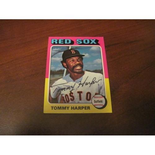 1975 Baseball Card 537 Tommy Harper San Francisco State Boston Red Sox