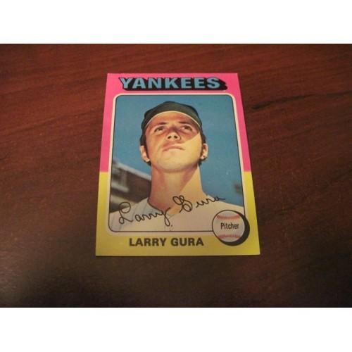 1975 Baseball Card 557 Larry Gura Arizona State New York Yankees Hi Grade