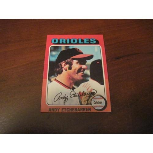 1975 Baseball Card 583 Andy Etchebarren Baltimore Orioles Hi Grade
