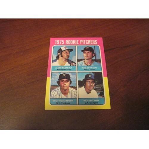 1975 Baseball Rookies Jamie Easterly Tom Johnson Scott MCGregor Rick Rhoden RC