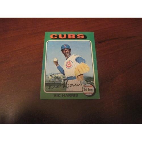 1975 Baseball Card 658 Vi Harris Chicago Cubs Hi Grade