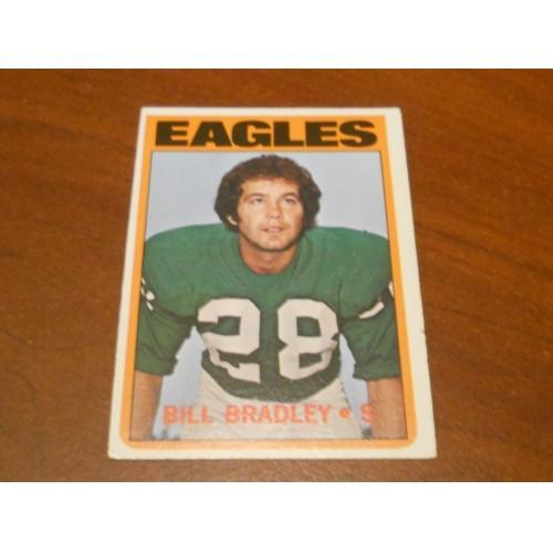 1972 Football Card 45 Bill Bradley University Texas Philadelphia Eagles ROOKIE