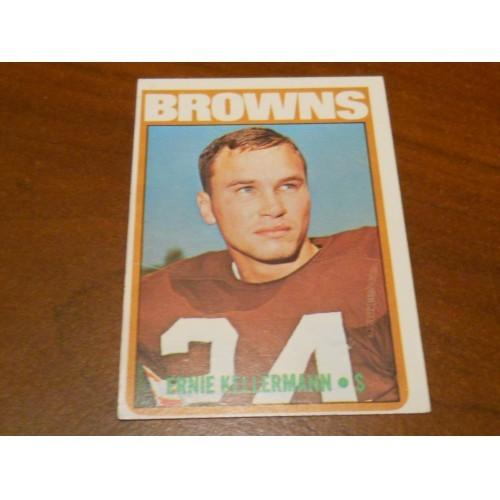 1972 Football Card 162 Ernie Kellermann Miami Ohio Cleveland Browns