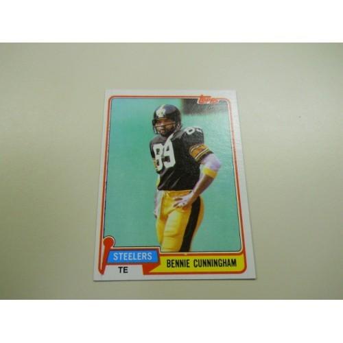1981 Topps Football Card 111 Bennie Cunningham Clemson Pittsburgh Steelers