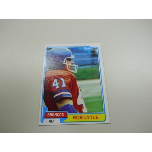 1981 Topps Football Card 464 Rob Lytle University of Michigan Denver Broncos