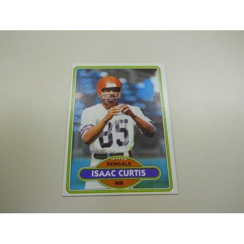 1980 Topps Football Card 17 Isaac Curtis San Diego State Cincinnati Bengals