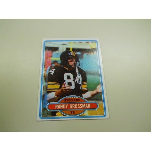 1980 Topps Football Card 91 Randy Grossman Temple Pittsburgh Steelers