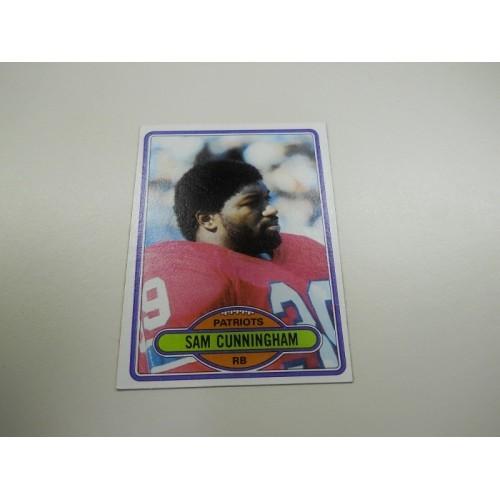 1980 Topps Football Card 119 Sam Cunningham USC New England Patriots