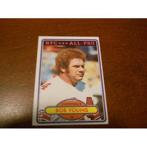 1980 Topps Football Card 425 Bob Young Howard Payne U St Saint Louis Cardinals