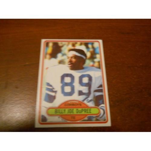 1980 Topps Football Card 455 Billy Joe Dupree Michigan State Dallas Cowboys