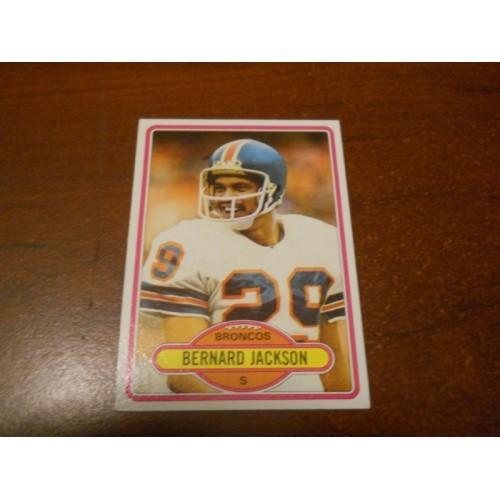 1980 Topps Football Card 521 Bernard Jackson Washington State Denver Broncos