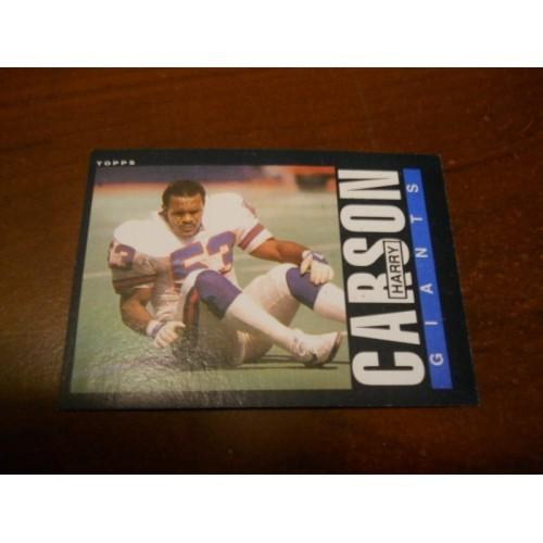 1985 Topps Football Card 114 Harry Carson South Carolina New York Giants HOF