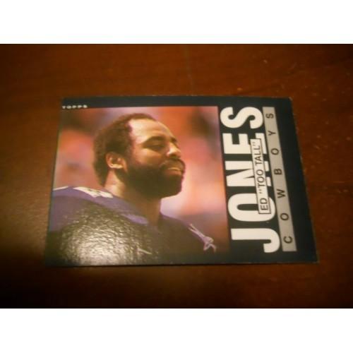 1985 Topps Football Card 46 Ed Too Tall Jones Tennessee State Dallas Cowboys HOF