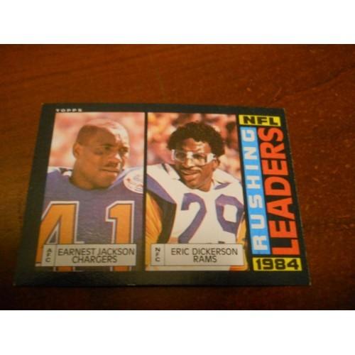 1985 Topps Football Card 194 Eric Dickerson SMU Ernest Jackson Texas A & M