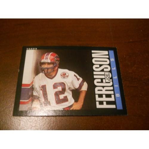 1985 Topps Football Card 201 Joe Ferguson Arkansas Quarterback Buffalo Bills