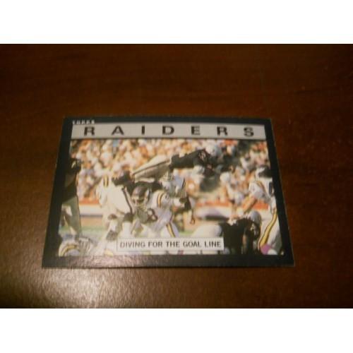 1985 Topps Football Card 281 Oakland Raiders Team Marcus Allen USC