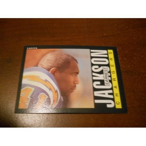 1985 Topps Football 275 Earnest Jackson San Diego Pittsburgh Steelers ROOKIE RC