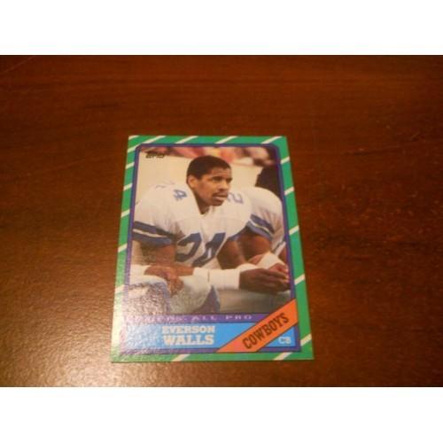 1986 Topps Football Card 135 Everson Walls Grambling State Dallas Cowboys
