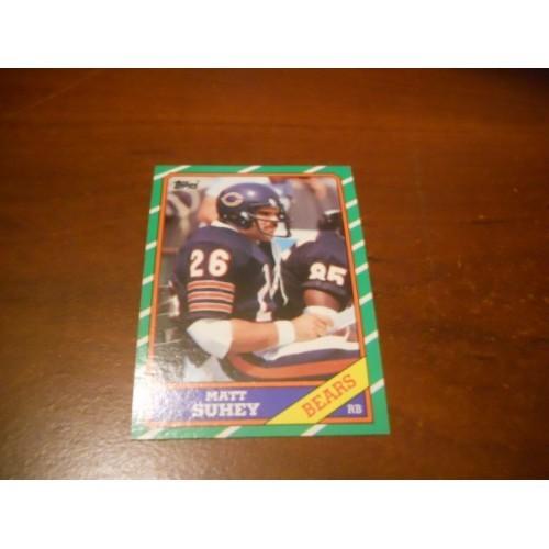 1986 Topps Football Card 12 Matt Suhey 1985 Chicago Bears Penn State