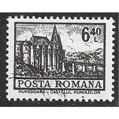 Romania, Scott 2360, Hunedoara Castle, used single, 1972