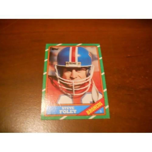 1986 Topps Football Card 123 Steve Foley Tulane Denver Broncos