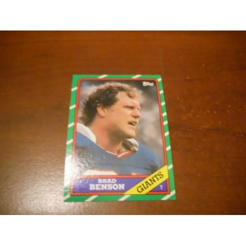 1986 Topps Football Card 146 Brad Benson Penn State New York Giants ROOKIE RC