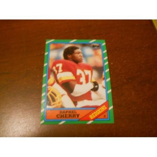 1986 Topps Football Card 183 Raphel Cherry Hawaii Washington Redskins ROOKIE RC