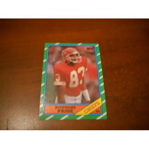 1986 Topps Football Card 306 Stephone Paige Fresno State Kansas City Chiefs